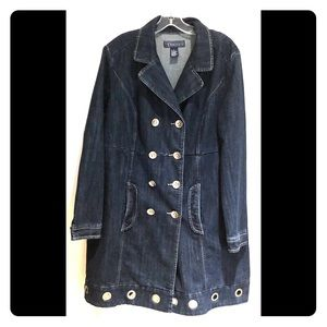 Baccini Mid-Length Jean Jacket with Ring Hardware